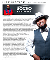 Bring You Justice Magazine 10x12 article - Rocko For Lawyer
