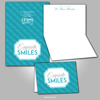 Exquisite Smile - Thank You Card - port